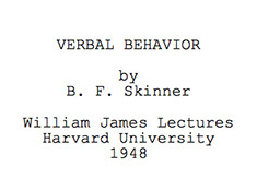 "Typed title of ""Verbal Behavior"""